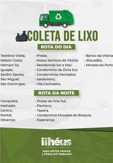 PREFEITURA DE ILHÉUS REGULARIZA COLETA DE LIXO E MANTÉM ROTAS EM DIVERSOS PONTOS DA CIDADE