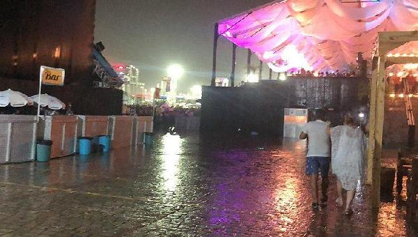 FORTE CHUVA CANCELA SHOWS DO FESTIVAL VIRADA EM SALVADOR
